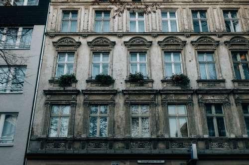 Rows Of Reflecting Windows Photo