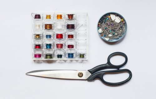 Sewing Materials Flatlay Photo