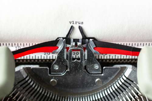 Virus A Typewritten Word Photo