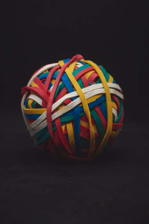 A Ball Of Rubber Bands Photo