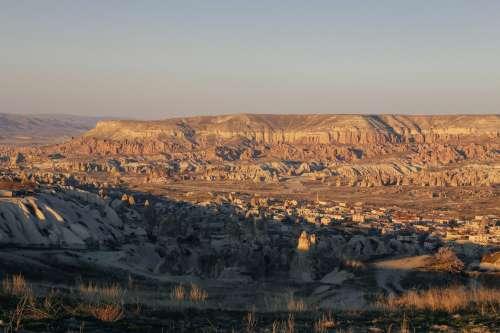 Sunrise Over Mountainous Landscape Photo