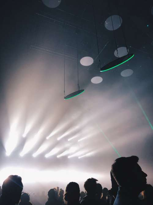 Dramatic White Lights At A Concert Photo