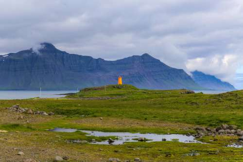 Yellow Lighthouse Photo