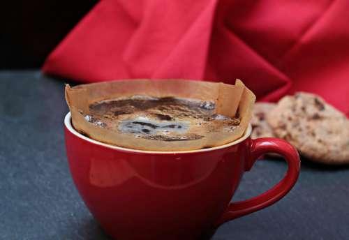 Coffee filter in a mug