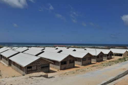water, seashore, building, residence, social housing, urbanization, construction site