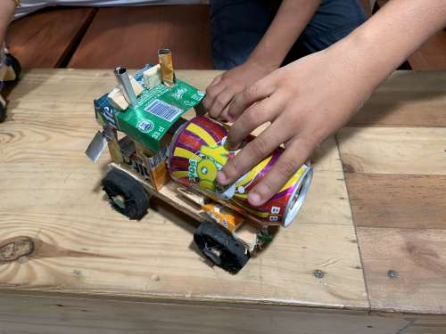 people, wood, childish, toy, carpentry, fun, DIY, leisure, hobby, enjoyment, can box, duckling, recycling, handmade, kid, child