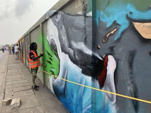 people, man, drawings, wall painting, graffiti art, street art, urban art, effet graff, shark, work, festival, handmade, mural