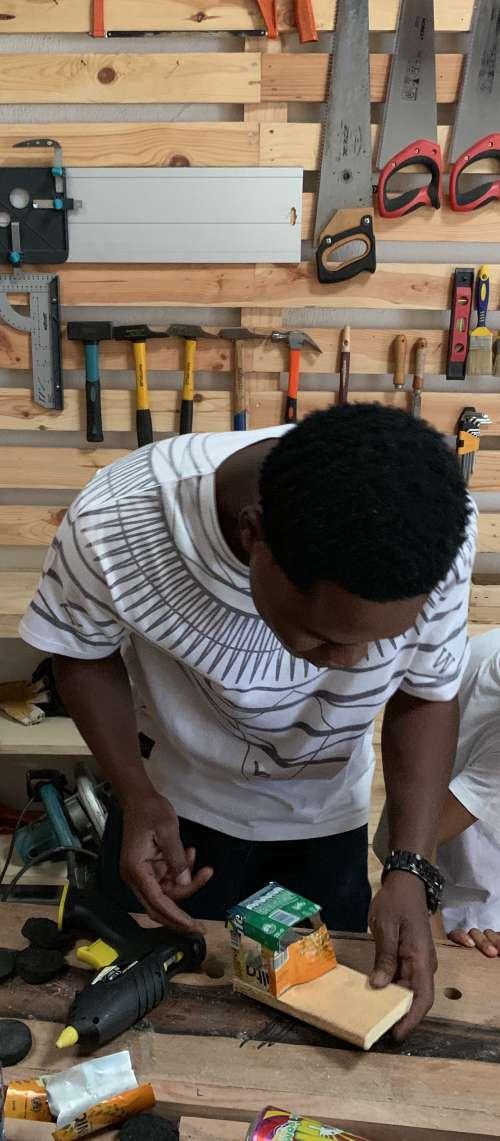 people, man, industry, skill, boy, workshop, carpenter, work, wood