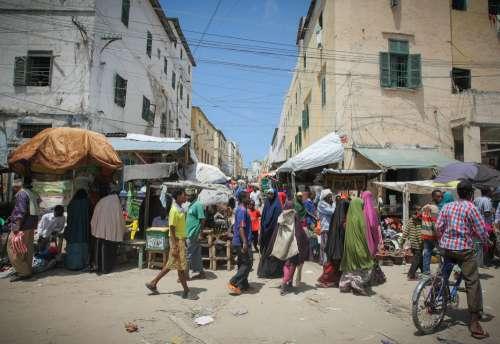 people, crowd, walk, pedestrians, market, trade, sales, buyers, customers, street,
