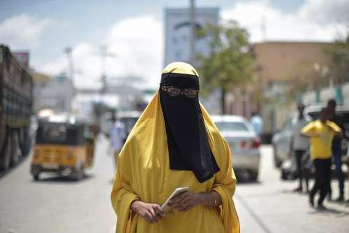 street, city, people, road, urban, woman, battle, veil, scarf, muslim
