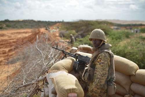 soldier, war, military, army, gun, weapon, people, man, rifle, uniform, desert, battle, ammunition, landscape, border, checkpoint, sniper