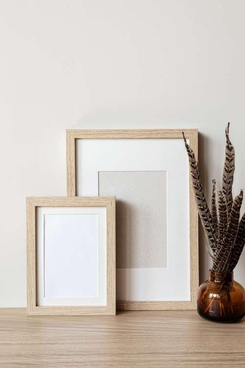 Photo mockups of frames