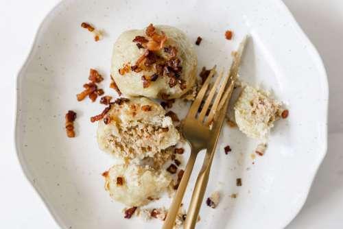 Dumplings with meat - Pyzy z mięsem