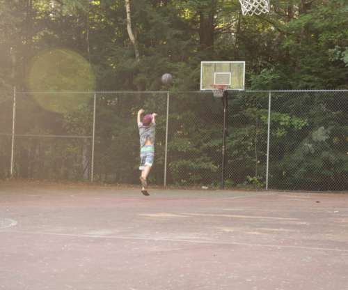 Basketball Game Outdoors Free Photo