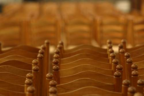 Blurred rows of chairs