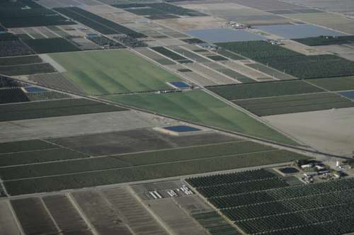 Desert agriculture, Imperial Valley, CA, USA, (Aerial view)