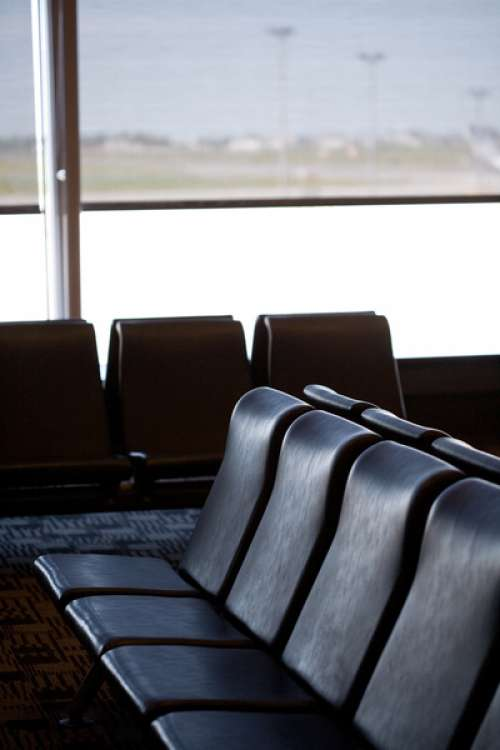 Seating in empty airport