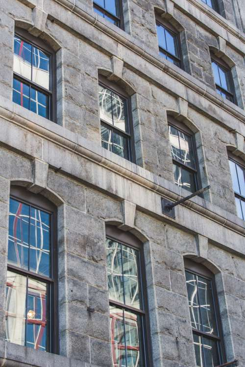 building detail windows brick city
