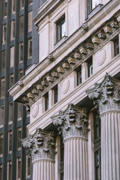 columns city ornate facade classic