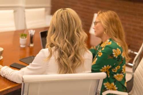 working women meeting professionals business