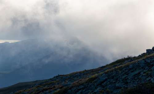 clouds mountains outdoors sky environment