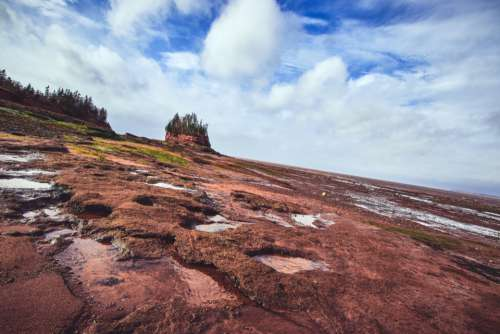 coastal landscape ocean shore rocky