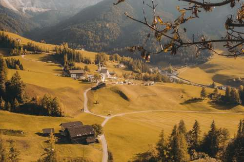 Closeup Of Provincial Village Photo