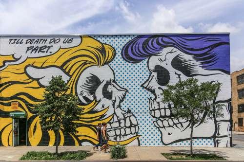 Skull Couple Wall Art Photo