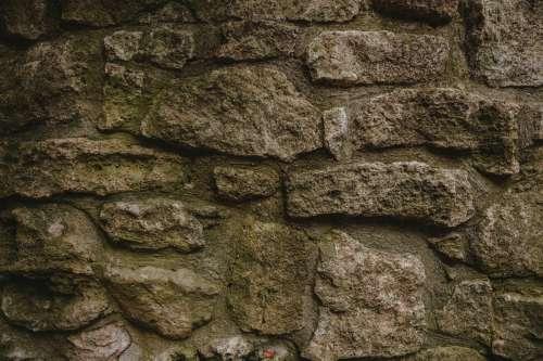 Aged Stone Wall Close Up Photo