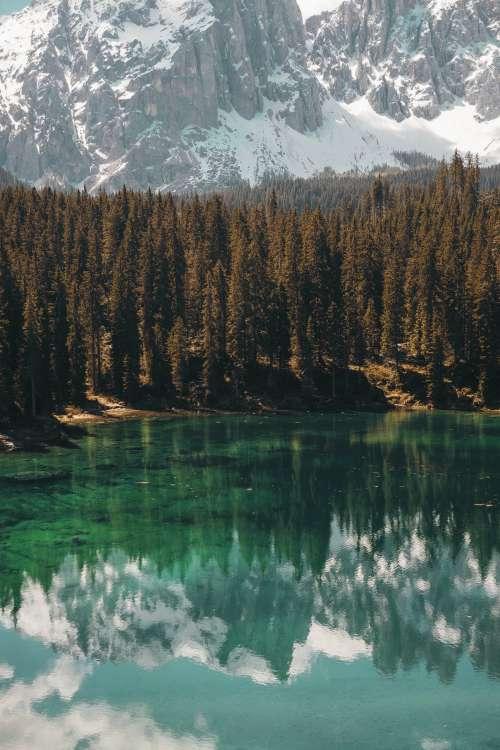 Mountains Reflecting In Lake Photo