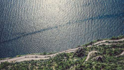 Aerial View Of Shoreline Photo