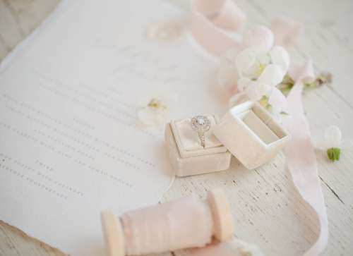 Wedding Ring In A Ring Box Photo