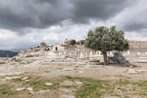 Ruins With Rain Clouds Photo