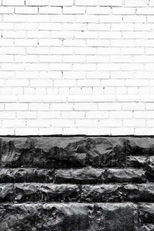 White And Black Stone Wall Photo