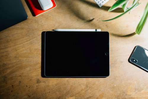 Tablet And Smartphone On Table Photo
