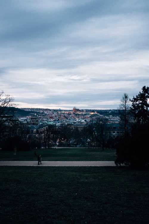 Czech Park At Twilight Photo