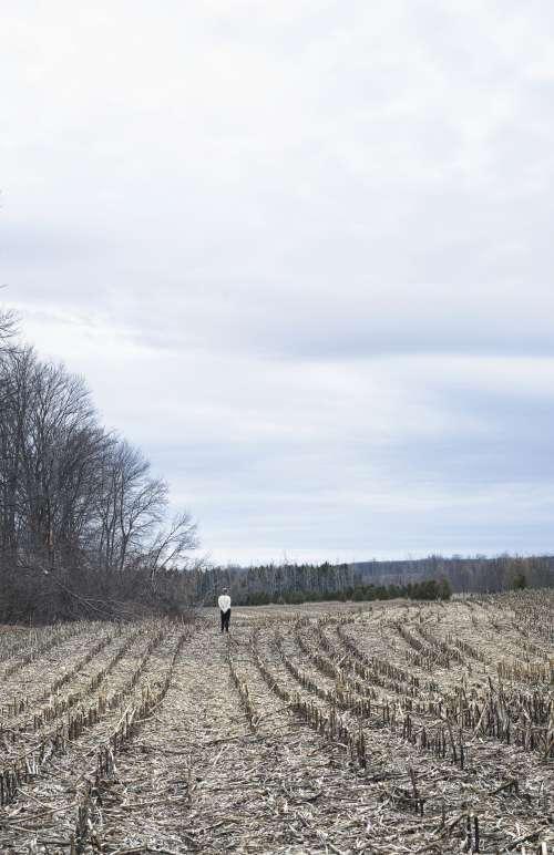 Portrait Of A Woman Alone In A Field Photo