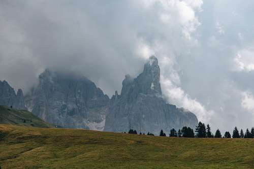 An Overcast Day Across A Mountain Range Photo