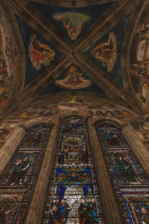 Vaulting Of Ornately Decorated Chapel Photo