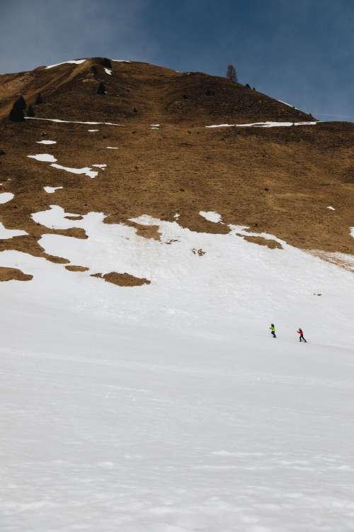 Melting Snow On Mountain Peak Photo