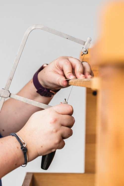 Side View Of Jewelers Handiwork Photo