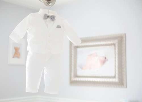 Baby White Tuxedo Photo