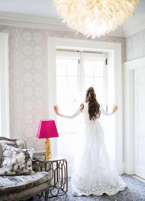 Beautiful Bride On Wedding Day Photo