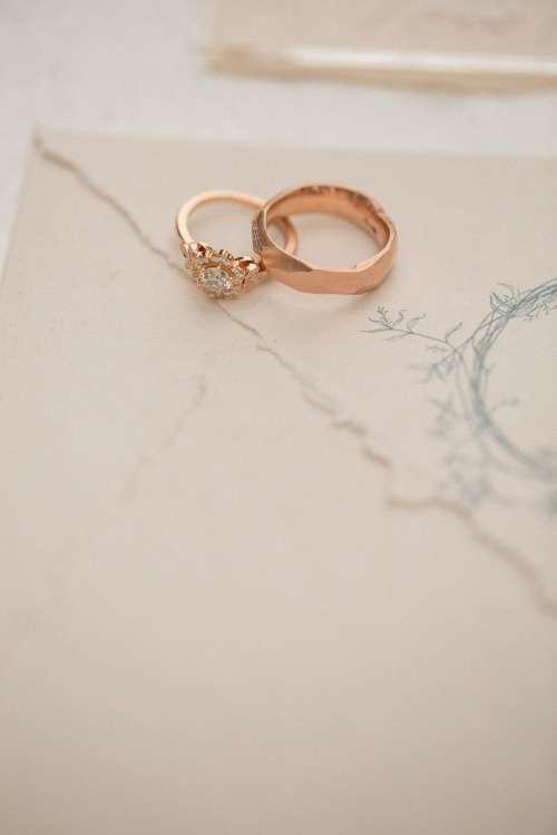 Rose Gold Wedding Ring Photo