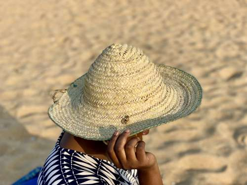 hat, fashion, straw hat, woman, people, beach, sand, clothing, model, mannequin