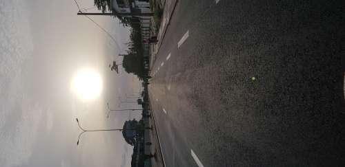 road, roadtrip, sun, sunset, ride, city, traffic, motorbike, sky, sunlight, landscape