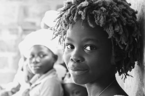 child, kid, woman, facial expression, look, black and white, nice girl, smile, good vibes, mood, beautiful