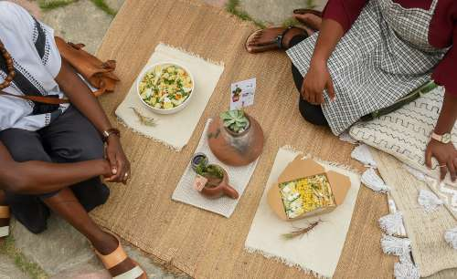 woman, salad, food, meal, lettuce, avocado, cooked eggs, fresh dish, menu, dressing, cooking, tasty, flavor, people, sharing, lunch