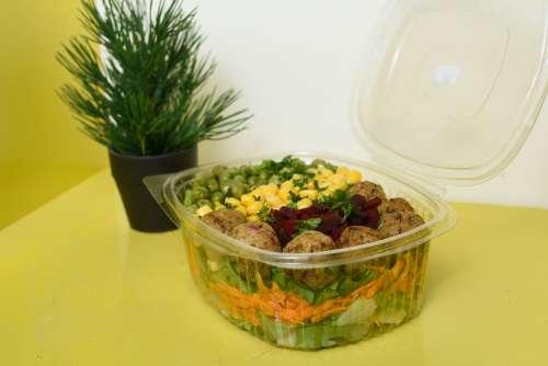 food, healthy food, gastronomy, fast food, diet, nutrition, meatball, salad, pea, fresh food, beet, vegetable, meal, lunch, tasty, flavor