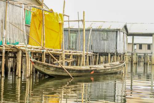 canoe, boat, transport, pier, wooden, travel, house, traditional, local, lakeside city